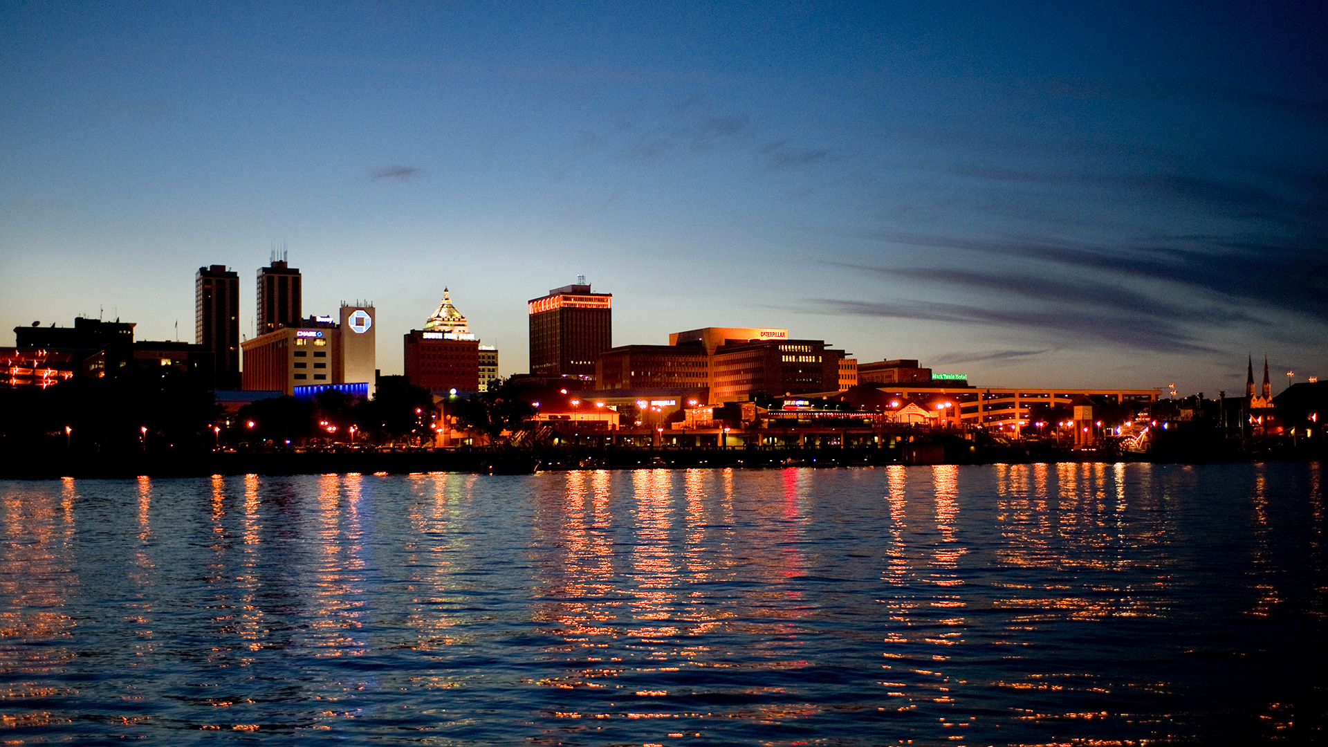 Peoria skyline at Night