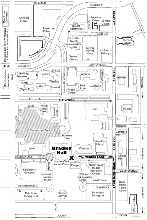 bradley university campus map Registrant Information World Of Wonder Programs Continuing bradley university campus map