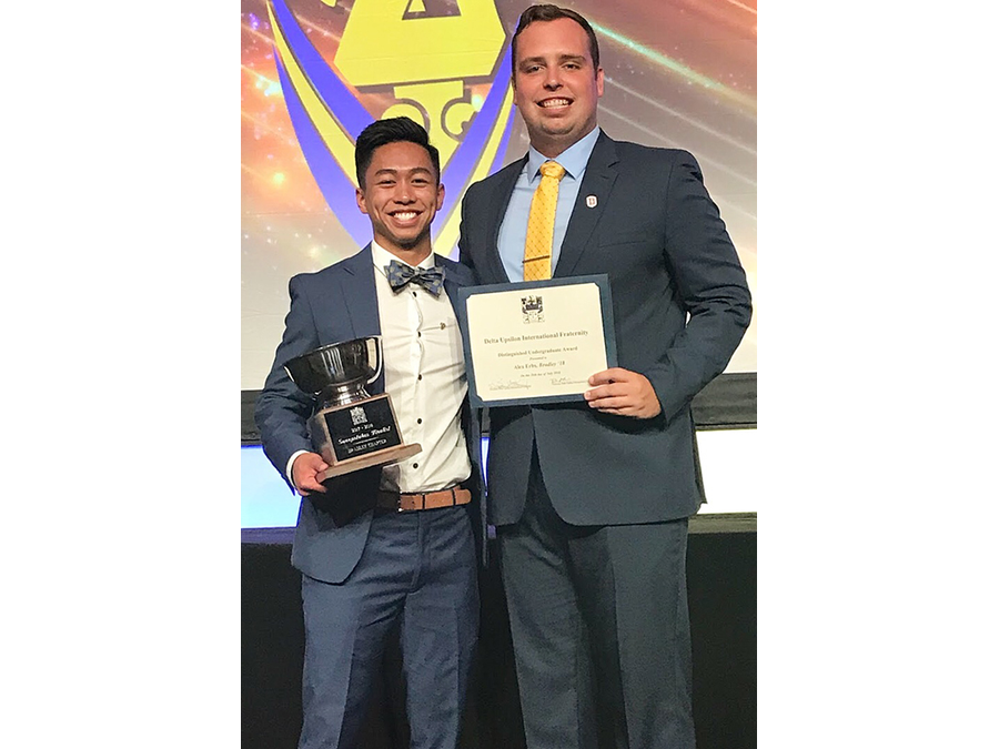L to R: Nikkoh Alejandro Cortez Mendoza (Chapter President) and Alex Erbs (Award Winner).