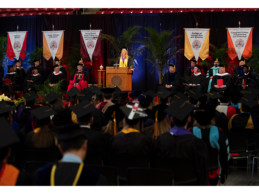 Haslag Delivers Student Remarks At Commencement Media