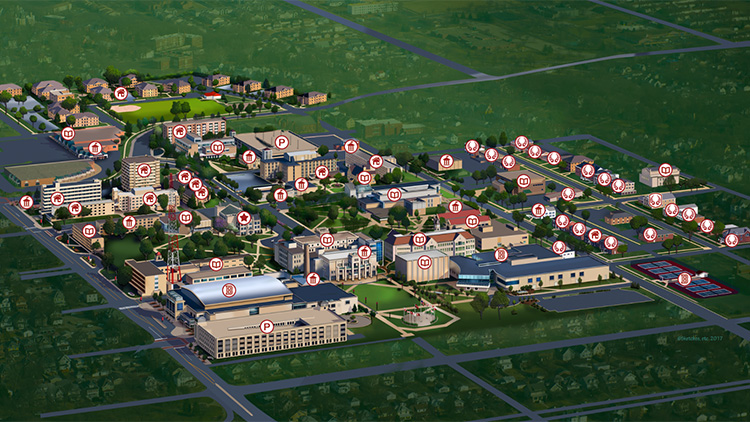 Campus Maps | For Media | Office of Public Relations | Offices